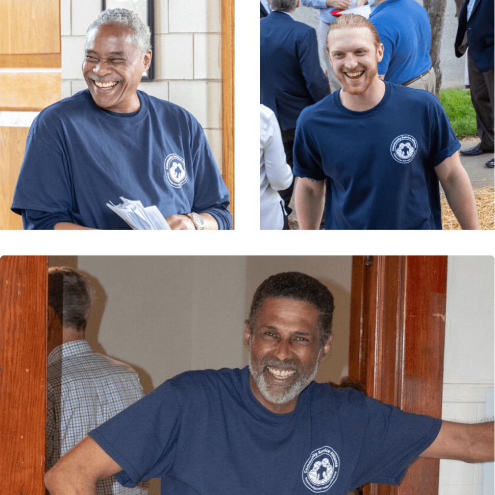 collage of portraits of volunteers
