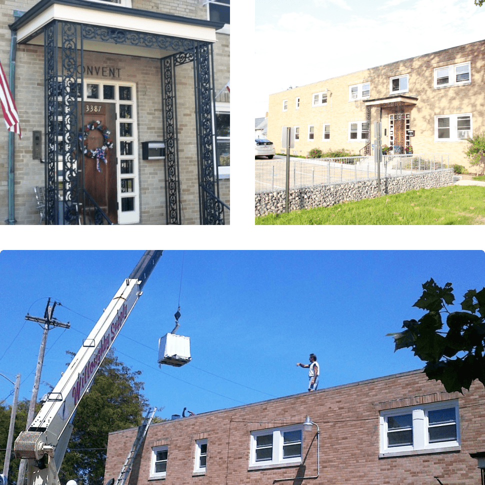 collage of different images from redoing the fulton house