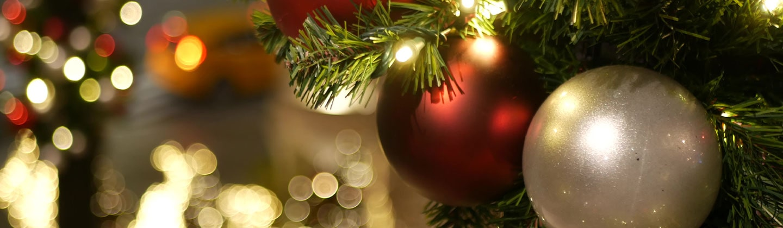 christmas blubs on tree