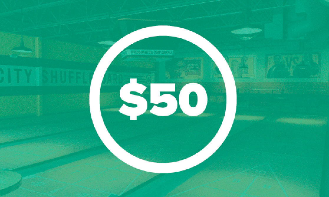 $50 contribution for csa shuffleboard event